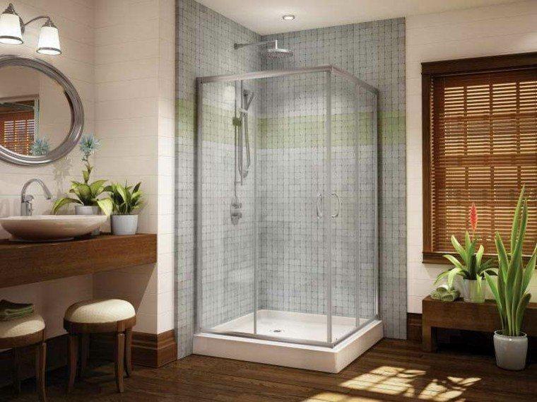 Ba os peque os con ducha 38 dise os de moda - Diseno de cuartos de bano pequenos ...