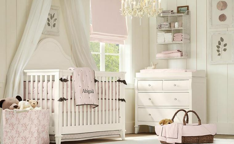 cuarto de bebe blanco