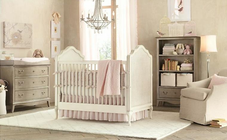 cuarto de bebe color beige