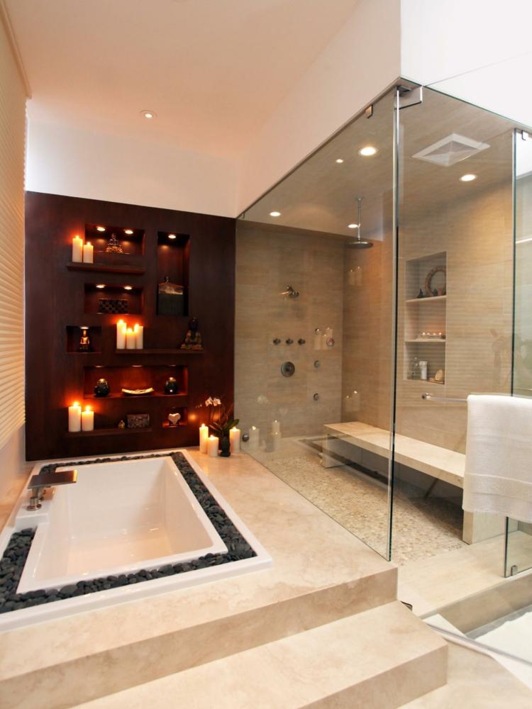 cuartos de baño modernos cabina ducha calido