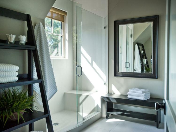 cuartos de baño modernos estantes pequeños