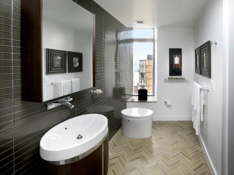 cuartos de baño modernos grises blanco marrones