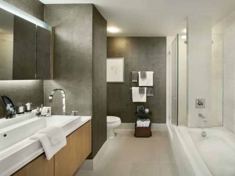 cuartos de baño modernos muebles funcionales toallas