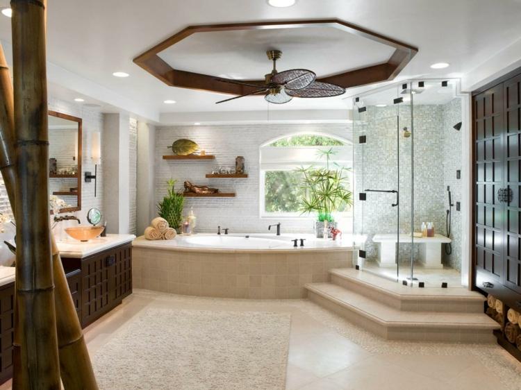 cuartos de baño modernos tropical soluciones bambu