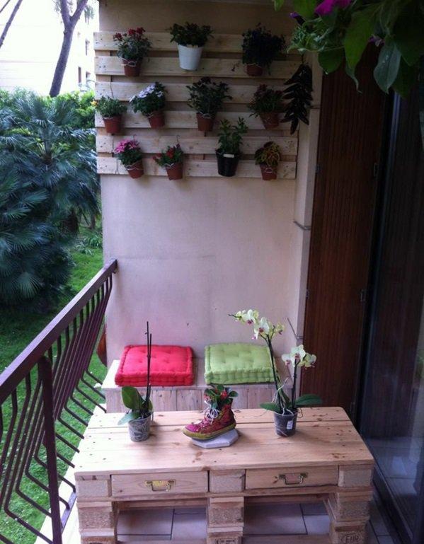 mesilla balcon madera palet