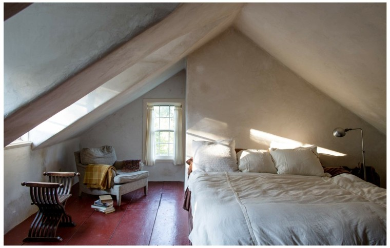 decoración habitación suelo madera