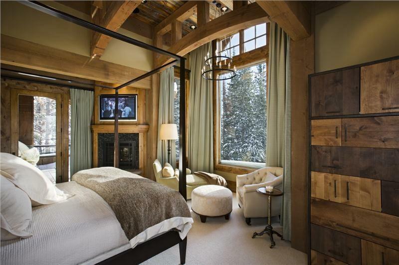 decoración habitacion rustica madera