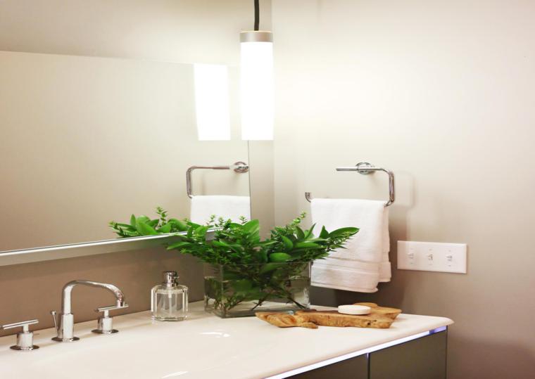 decoracion mueble lavabo planta