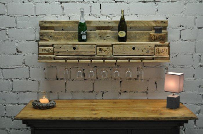 estantería vinos pallet madera
