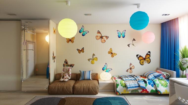 decoración pared mariposas pegatinas