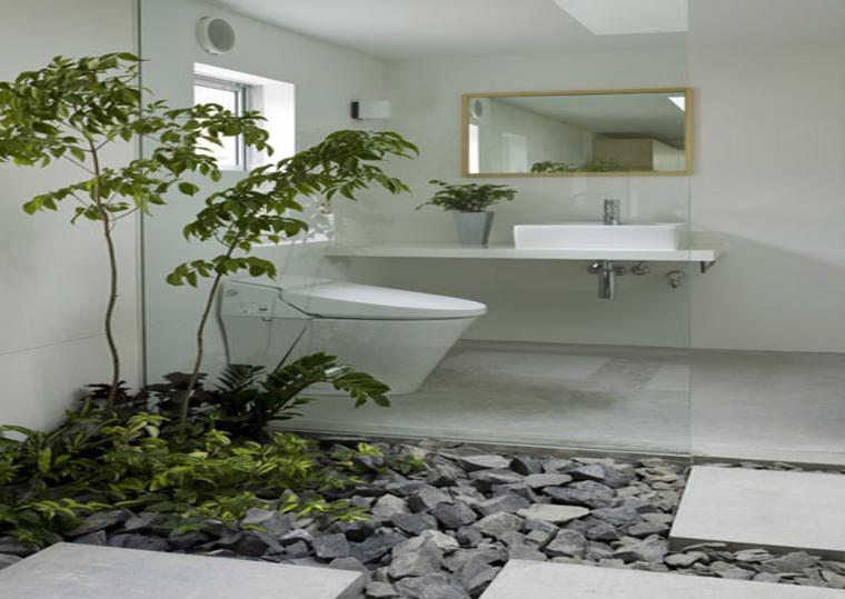 baño diseño moderno jardin