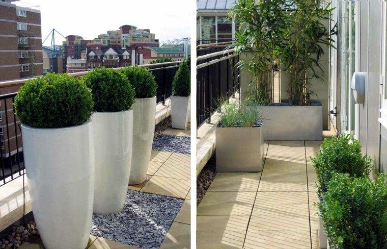 decoración plantas terrazas modernas