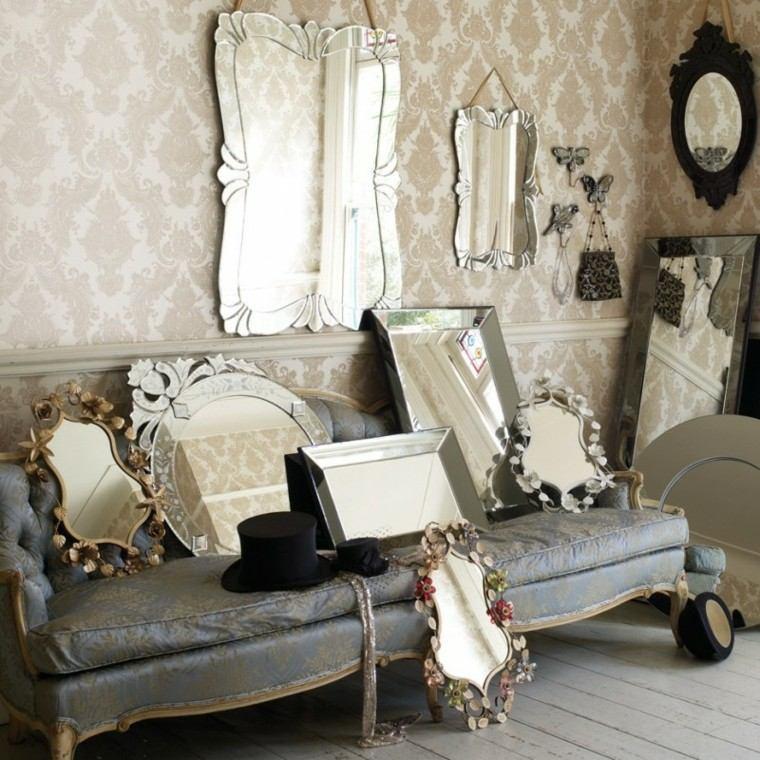 decoración retro espejos vintage