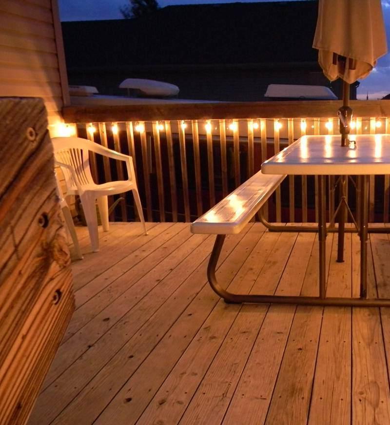 Decoracion de terrazas ideas con elementos de madera - Luces de terraza ...