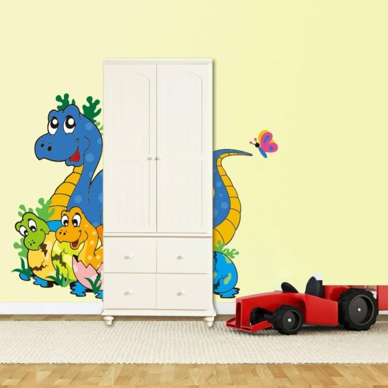 decoracin armario coche rojo