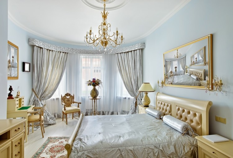 decoración lujosa dorado plateado