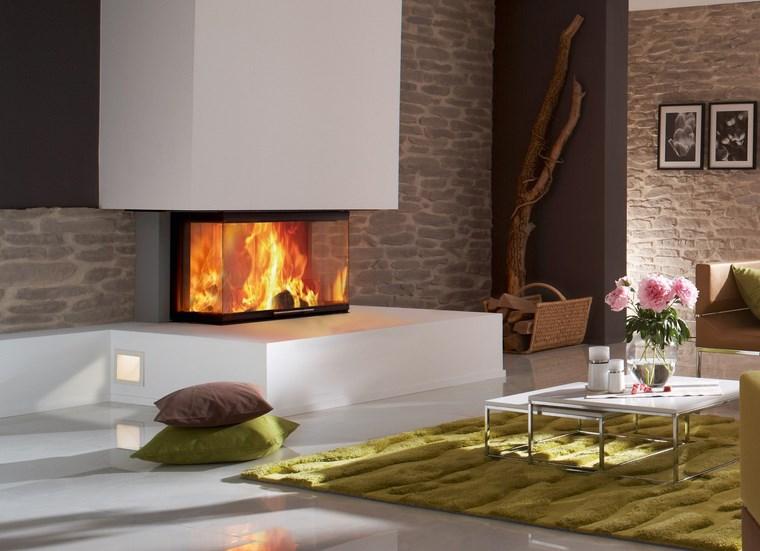 Decoracion chimeneas modernas para decorar y calentar - Decoracion con chimeneas ...