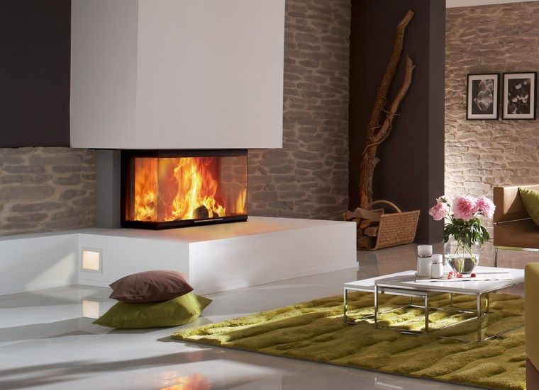 Decoracion chimeneas modernas para decorar y calentar - Chimeneas modernas fotos ...