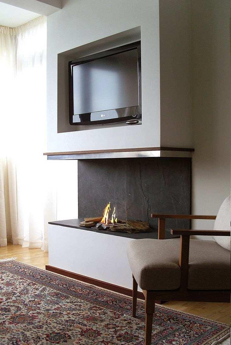 Decoracion chimeneas modernas para decorar y calentar - Chimenea de pared ...