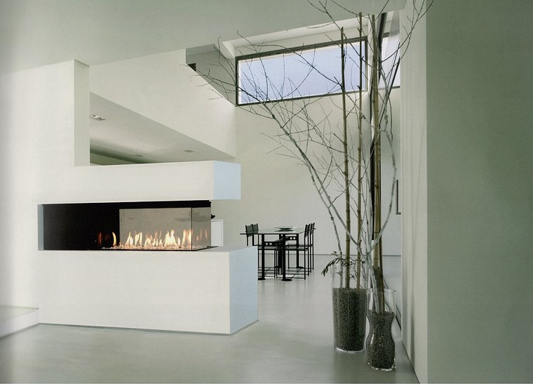 decoracion chimenea moderna cristal alta ideas