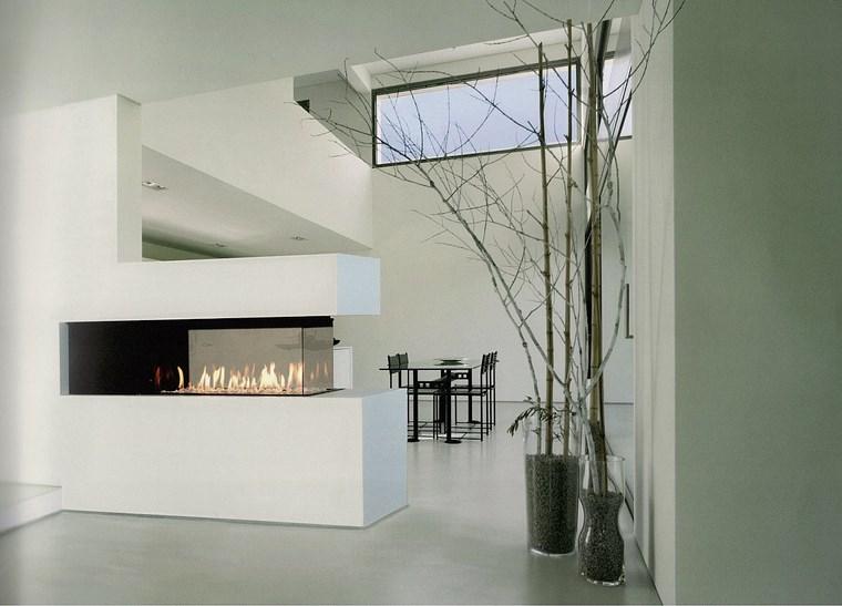 Decoracion chimeneas modernas para decorar y calentar - Cristal vitroceramico chimenea ...