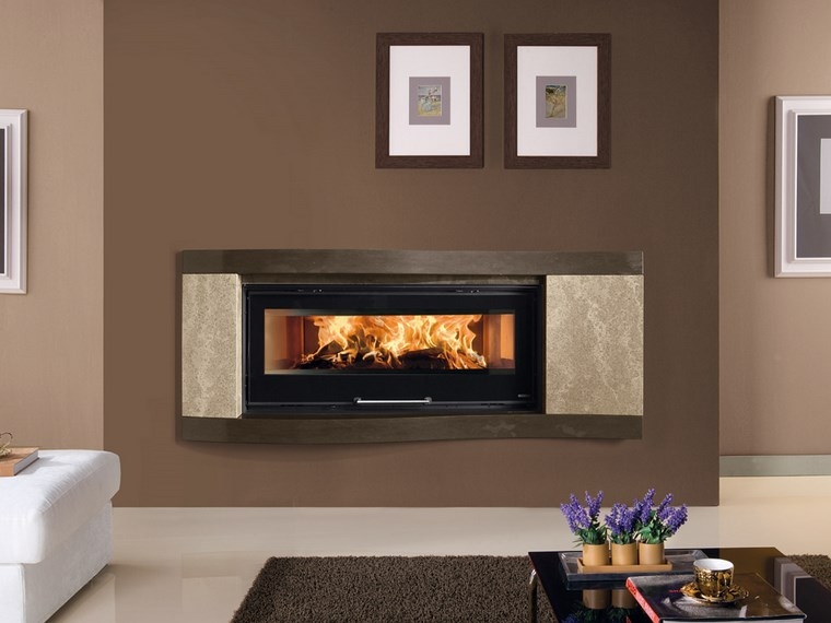 decoracion chimeneas modernas cuadros pared marron claro ideas