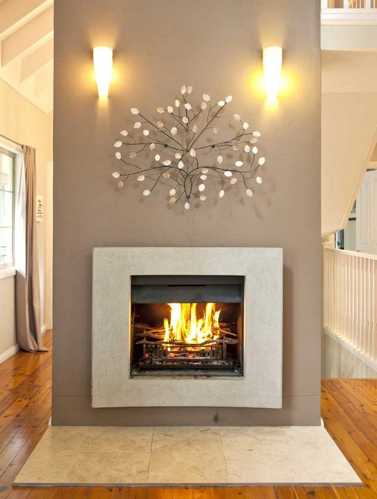 decoracion chimeneas modernas decoracion pared preciosa ideas