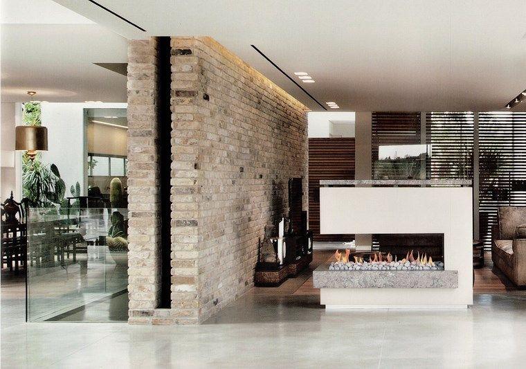 Decoracion chimeneas modernas para decorar y calentar - Salones con chimeneas modernas ...