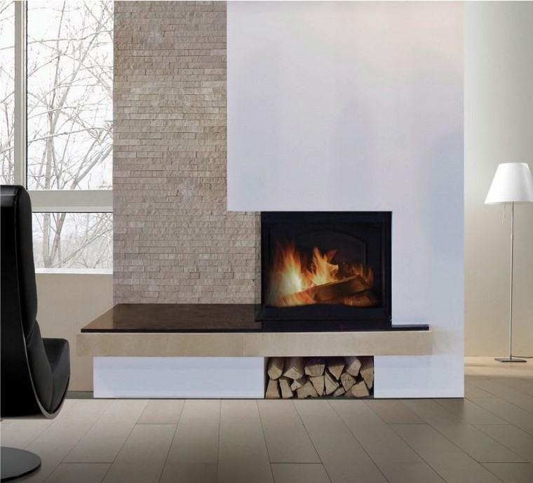 Decoracion chimeneas modernas para decorar y calentar - Chimeneas en esquina ...