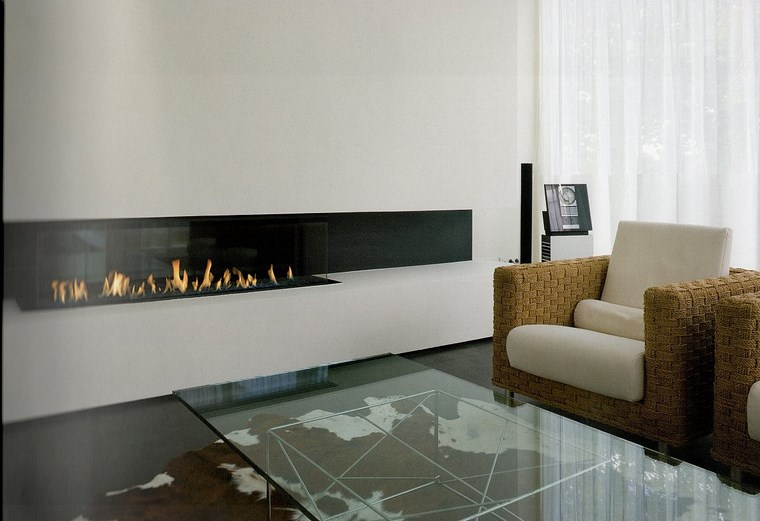 Decoracion chimeneas modernas para decorar y calentar - Mesa salon moderna ...