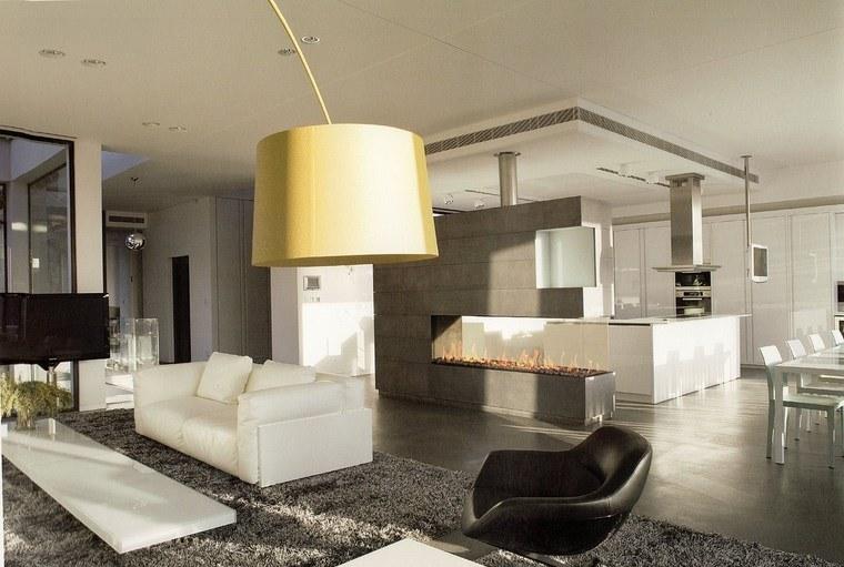 Decoracion chimeneas modernas para decorar y calentar Decoracion salon moderno