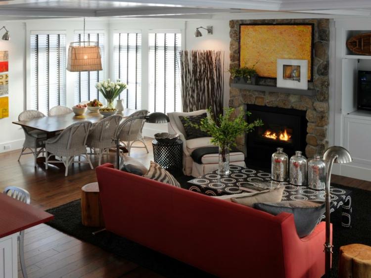 decoracion chimeneas rusticas mobiliario luminarias calor