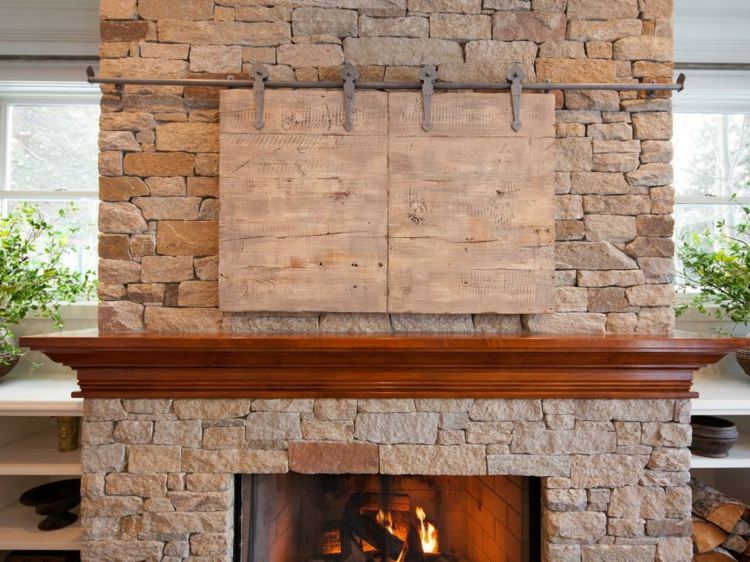 Decoracion chimeneas rusticas y calidez en 50 creaciones for Decoracion de paredes rusticas