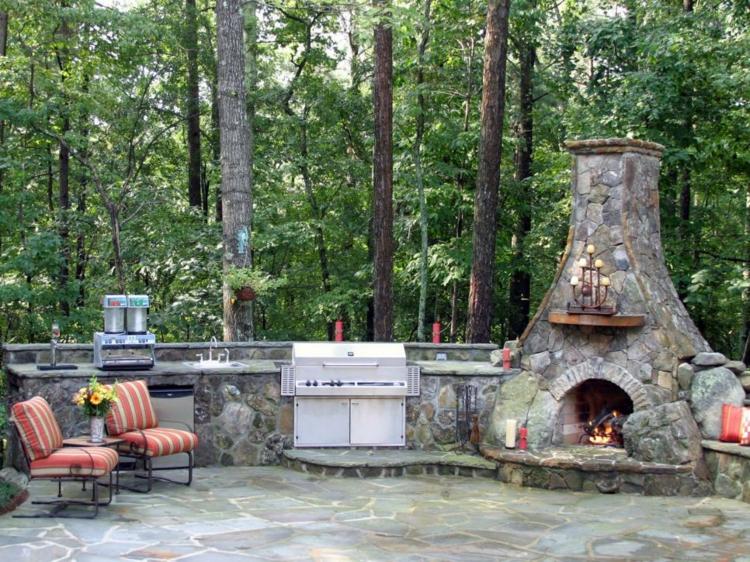 decoracion chimeneas rusticas mobiliario suelos lineas