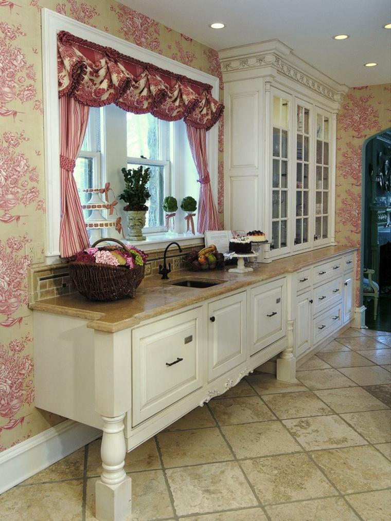 decoracion cocinas chicas variaciones cortinas pared