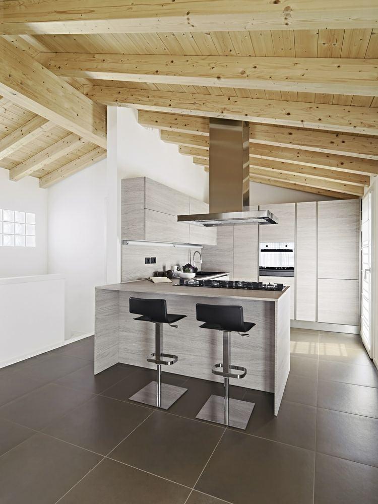 decoracion-cocinas-pequenas-isla-gris