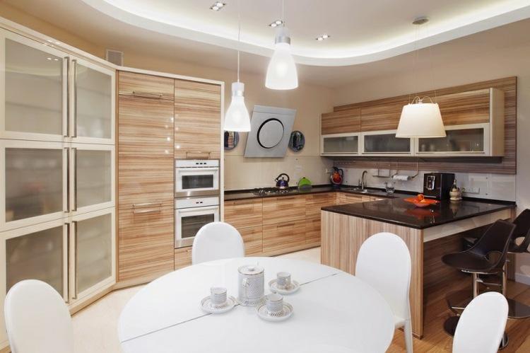 decoracion cocinas pequenas madera armarios ideas