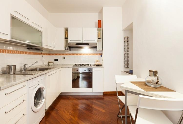 Decoracion de cocinas peque as 53 ideas interesantes for Cocinas blancas pequenas