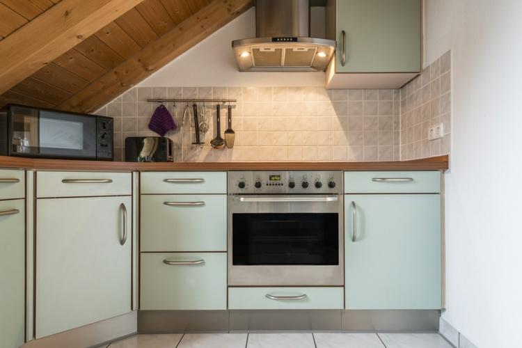 decoracion cocinas pequenas techo abovedado ideas