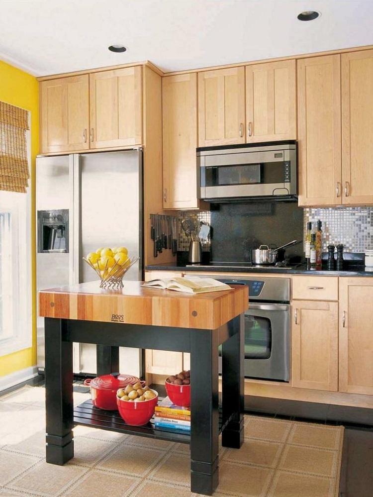decoracion de cocinas pequeñas armarios madera ideas