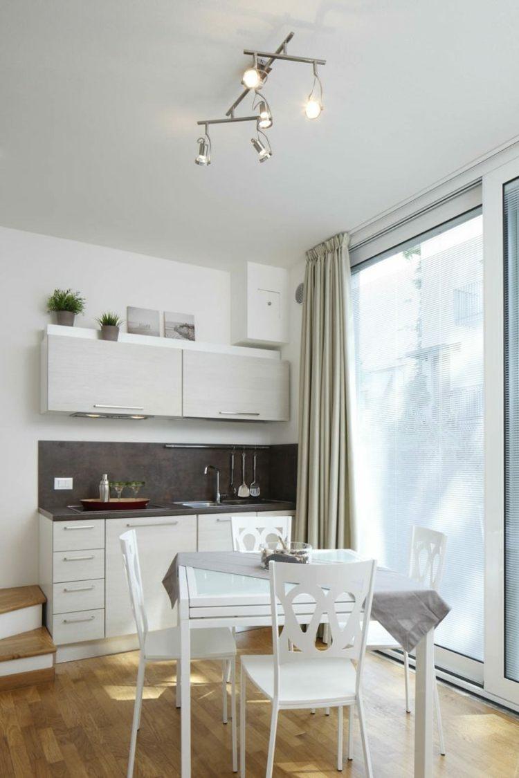 decoracion de cocinas pequeñas blancas ideas