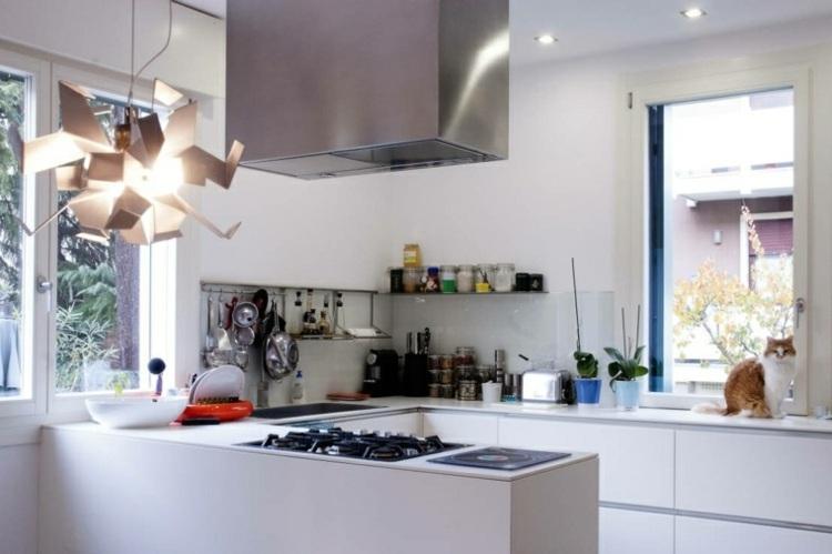 decoracion de cocinas pequeñas lampara preciosa ideas