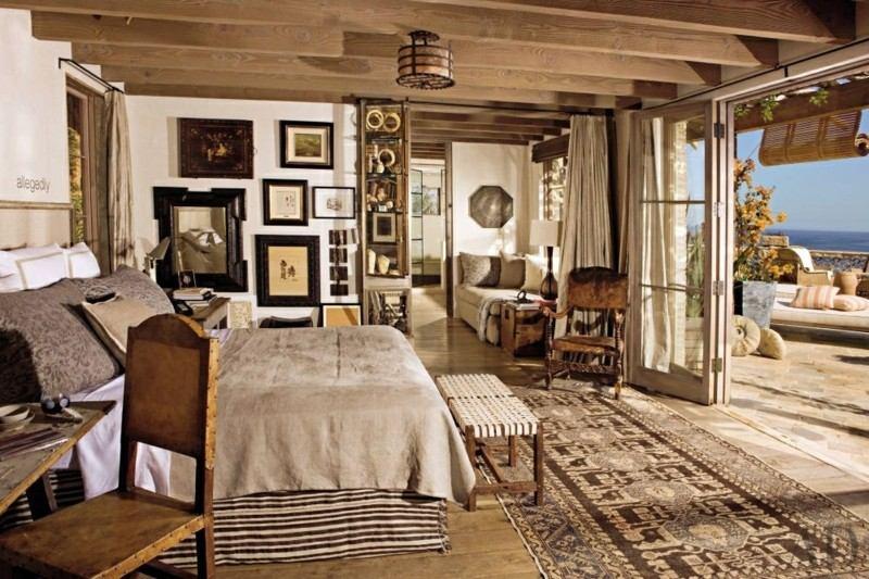 Decoracion de dormitorios rusticos madera y piedra - Decoracion dormitorio rustico ...