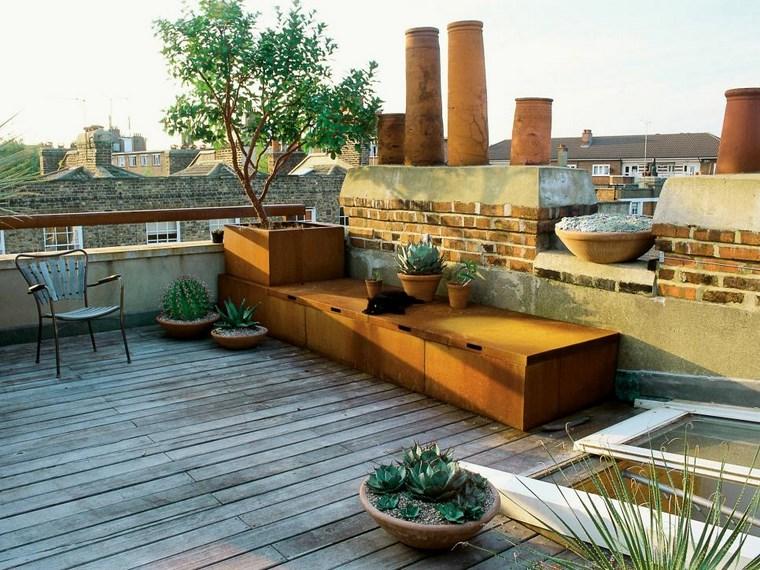 decoracion exteriores terrazas cajones madera grandes ideas