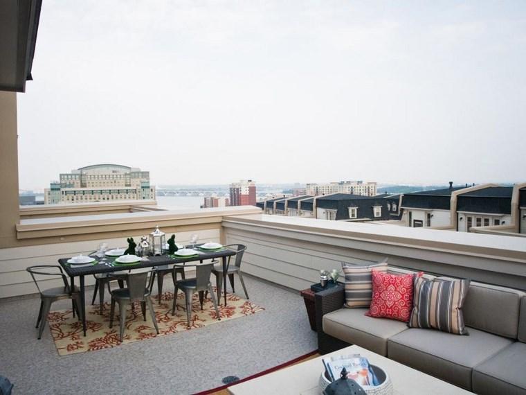 decoracion de exteriores terrazas lugar comidas sofa ideas