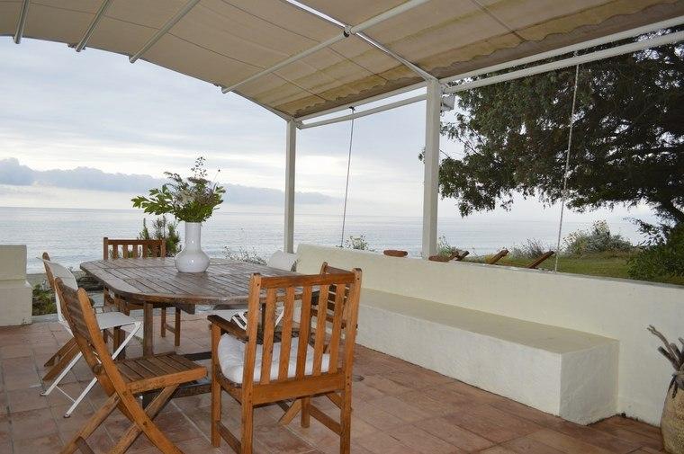 decoracion exteriores terrazas pergola muebles comidas ideas
