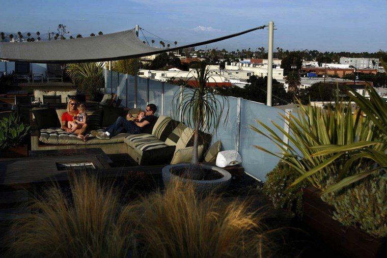 decoracion exteriores terrazas pergola tela ideas