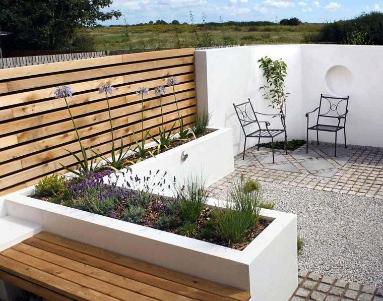 decoracion exteriores terrazas sillas acero ideas