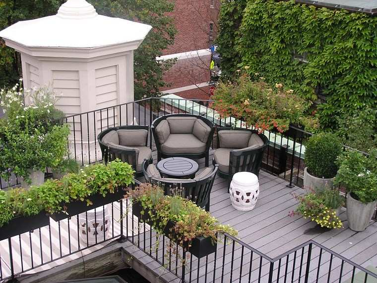decoracion exteriores terrazas sillones originales ideas