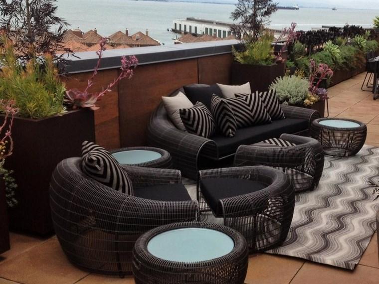 decoracion exteriores terrazas sillones comodos ideas
